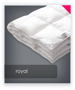 ROYAL kołdra letnia puch 100% export 155x200